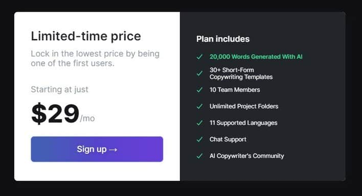 jarvis pricing